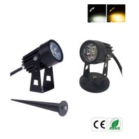 3W AC220V/DC12V mini LED Gartenspot Gartenstrahler IP65